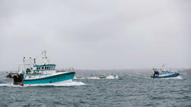 French fishing boats return home after protesting post-Brexit fishing restrictions off the coast of Jersey