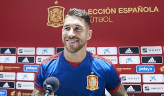 Spain captain Sergio Ramos will go up against England striker Harry Kane