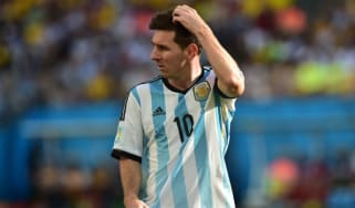 Argentina's forward and captain Lionel Messi