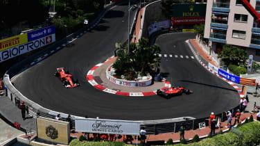 2018 Monaco GP Mercedes Ferrari Red Bull
