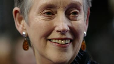 LONDON, UNITED KINGDOM:Former MI5 boss Stella Rimington arrives for the British Book Awards 2004 at the Grosvenor House Hotel in London 07 April 2004. AFP PHOTO/Jim WATSON(Photo credit should