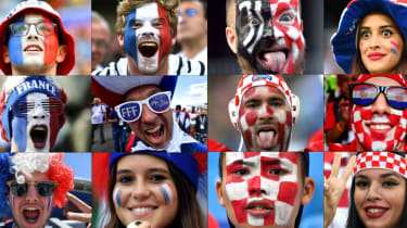 2018 World Cup final France vs. Croatia