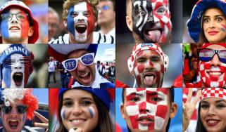 2018 World Cup final France vs. Croatia