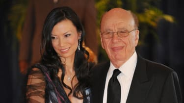 Media magnate Rupert Murdoch and his wife Wendi Deng arrive for the 2010 White House Correspondents May 1, 2010 at a hotel in Washington, DC. AFP PHOTO/Mandel NGAN (Photo credit should read M