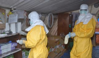Ebola health workers in Guinea
