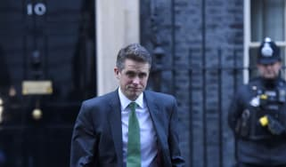 Gavin Williamson leaves 10 Downing Street