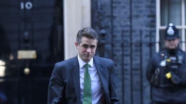 Gavin Williamson leaves 10 Downing Street