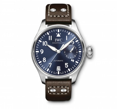 "IW501002 Big Pilot's Watch Edition ""Le Petit Prince"" in stainless steel with Brown calfskin strap Front Mechanical movement · Pellaton automatic winding · IWC-manufactured 52110 calibre (5200"