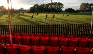 Aylesbury Vale Dynamos vs. Bovingdon FC at an empty Greenfleets Stadium