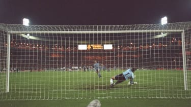 Southgate missed a penalty in the Euro 96 shoot-out defeat against Germany
