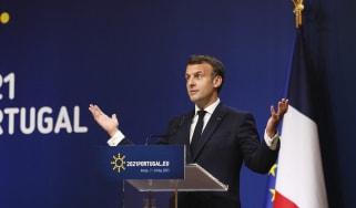 Emmanuel Macron during the European Social Summit in May