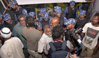 Maldives police break up celebrations after the Supreme Court orders release of political prisoners