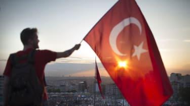 Turkish Flag Waver Istanbul