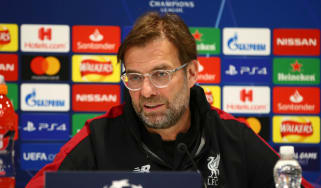 Liverpool manager Jurgen Klopp speaks to the media ahead of the first leg against Bayern Munich