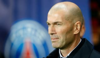 Real Madrid head coach Zinedine Zidane