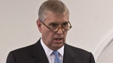 Prince Andrew in Davos, Switzerland, 2015
