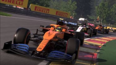 A screenshot of the F1 2020 video game
