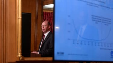 Chief Medical Officer Chris Whitty at the announcement of the government's new three tier lockdown system