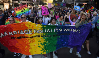 Thousands turn out around Australia to rally in support of same-sex marriage