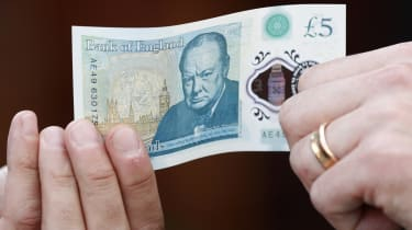 A £5 note