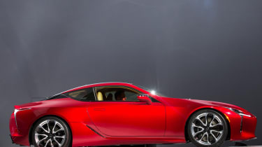 The Lexus LC500 has it's North American debut during the company's press conference at the 2016 North American International Auto Show in Detroit, Michigan, January11, 2016.AFP PHOTO / GEOFF