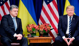 Ukrainian president Petro Poroshenko meeting Trump in June 2017