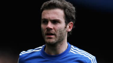 LONDON, ENGLAND - APRIL 07:Juan Mata of Chelsea looks on during the Barclays Premier League match between Chelsea and Sunderland at Stamford Bridge on April 7, 2013 in London, England.(Photo