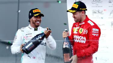 Lewis Hamilton and Sebastian Vettel finished second and third at the F1 2019 Azerbaijan GP