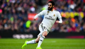 Spanish international midfielder Isco in action for Real Madrid in La Liga