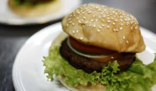 Burger, meat