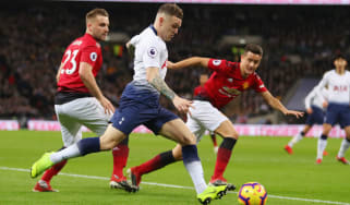 Tottenham Hotspur right-back Kieran Trippier in action against Manchester United