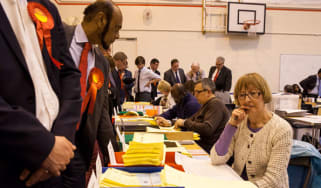 Council staff count votes from local elections