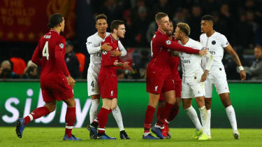 Liverpool left-back Andy Robertson clashed with PSG striker Neymar