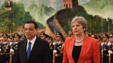 Chinese leader Xi Jinping with Theresa May China