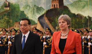 Chinese leader Xi Jinping with Theresa May China