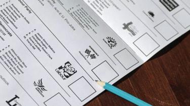 European elections ballot paper