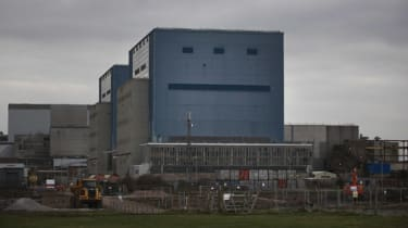 Construction work at the Hinkley Point nuclear power station