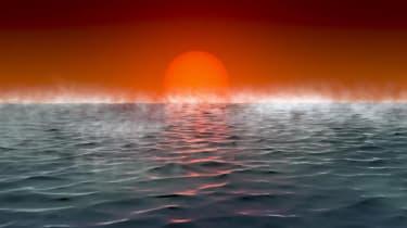 Artist's impression of Hycean planet ocean
