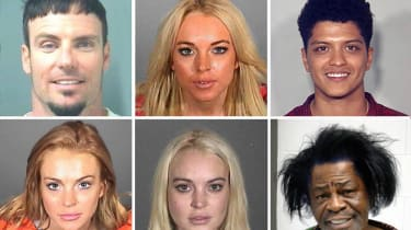 LOS ANGELES - MAY 02: This composite image compares the six booking photos of actress Lindsay Lohan. ***TOP LEFT PHOTO*** SANTA MONICA, CA - JULY 24: In this handout photo provided by the San