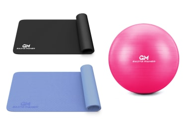 GainzMaker exercise mats and exercise ball