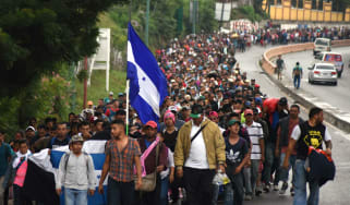 Honduras Migrant Caravan crosses border into Guatemala toward Mexico, US as Trump threatens to halt humanitarian aid