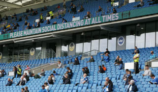 In a test event at the Amex Stadium in August fans watched Brighton's pre-season friendly with Chelsea