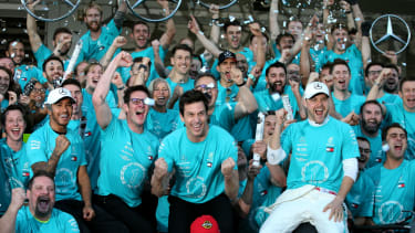 The Mercedes F1 team have won sixth consecutive championship doubles