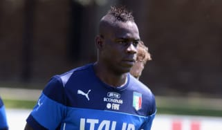 Mario Balotelli during a training session