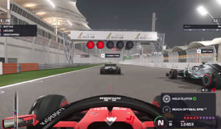 The Bahrain International Circuit as featured on the F1 2019 PC video game