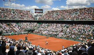 The French Open tennis grand slam is played at Roland Garros in Paris
