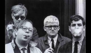 Andy Warhol, Henry Geldzahler, David Hockney and Jeff Goodman, 1963, by Dennis Hopper