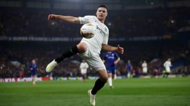 Eintracht Frankfurt striker Luka Jovic scored against Chelsea in both legs of the Europa League semi-final