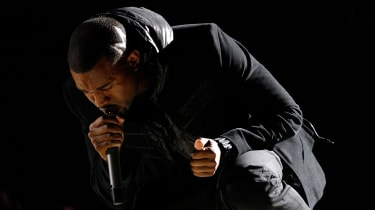 Kayne West performs at the Grammys in 2008