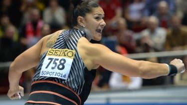 World Champion shot-putter Valerie Adams